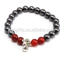 2014 New Arrival 4pcs Natural Carnelian With Magnetic Therapy beads and Calabash Pendant Bracelet