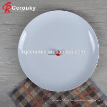 Китай поставщик банкетный зал банкетный зал белый круглый керамический обеденный стол