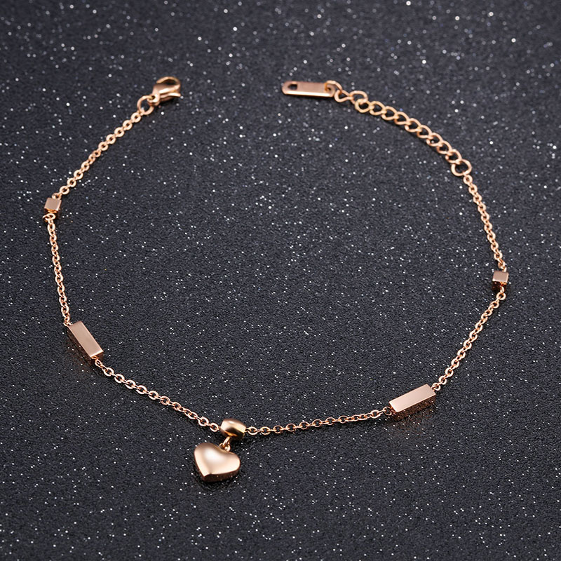 Gold Heart Anklet
