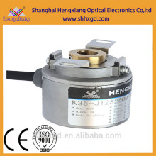 Codificador de boa qualidade K35 Ultrathin High Resolution Hollow Shaft Encoder Servo DC Motor com ABZA-BZ-UU-VV-WW- fase