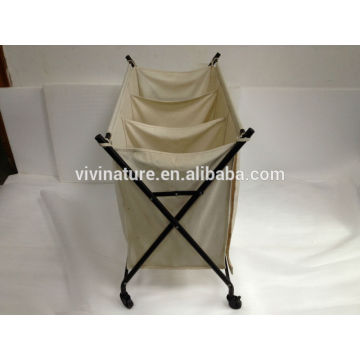 Chariot à linge avec grand sac et panier à linge