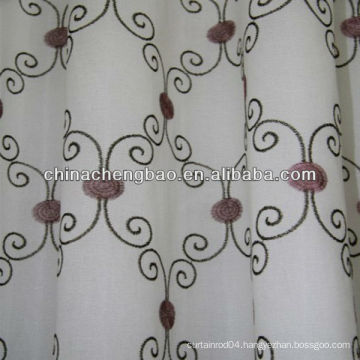 hand embroidered curtain with purple flower