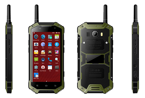 4.7 HD Screen Walkie Talkie Rugged Mobile Phone