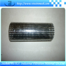 Cylindre de filtration en fil métallique perforé en acier inoxydable