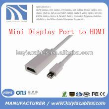 Mini port d'affichage vers HDMI Adaptateur Câble M / F Mâle vers femme pour Macbook