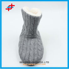 2015 super soft ladies winter fashion monochrome home half boots