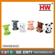 Crianças engraçadas de plástico Wind Up Handstand mini plástico brinquedo animal