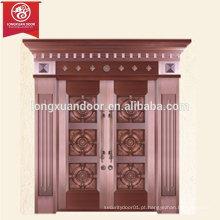 Porta de bronze de fábrica personalizada, porta de cobre duplo e cobre