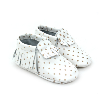 2016 New Style Baby girls Beautiful Leather Moccasins