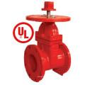 UL / FM 200psi Nrs Tipo Válvula de compuerta de extremo con brida