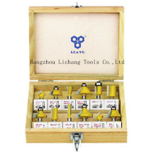 12PCS Router Bits Set Packed in Wooden Case