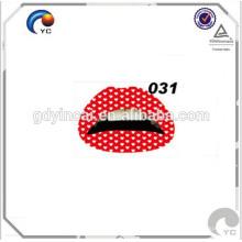 Tatouages adhésifs pour les tatouages de rouge à lèvres de peau pour maquiagem