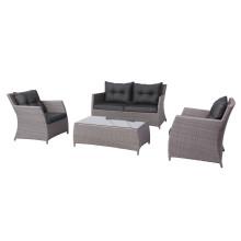 4PCS Нежный Wicker Открытый Lounge диван мебель настройки