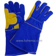 Verstärkte Daumen Doppel Palm Leder Handschuhe Schweißer Handschuhe Arbeitshandschuh
