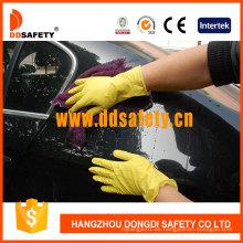 Guante de látex amarillo para el hogar DHL303