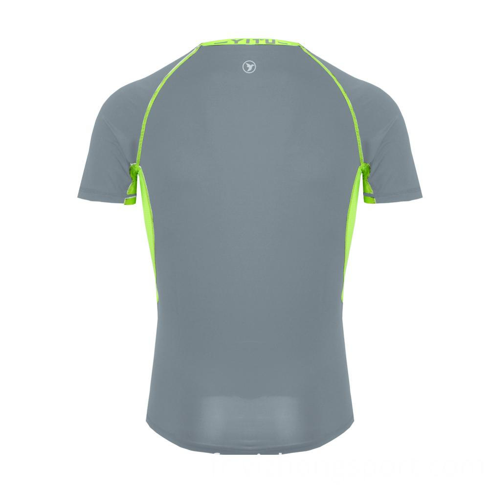 Fitness T Shirt Tight Grey Polyester