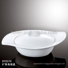 Bol de soupe durable spécial en bois japonais au style japonais avec couvercle