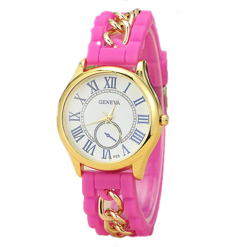 Classical design silicone band watch