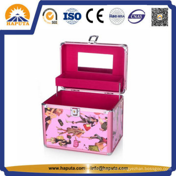 Preciosa caja de almacenamiento de joyería de aluminio (HB-2044)