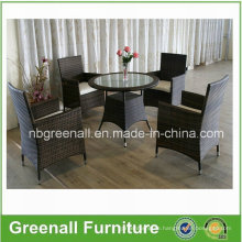 Outdoor Rattan Swivel Dining Table Set (GN-8627D)