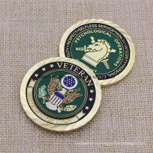 Большое количество Custom Us Army Gold Plated Coin