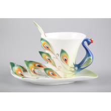 Tasse de thé en céramique Peacock