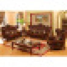 Madeira sofá de couro Set for Home Móveis (525)