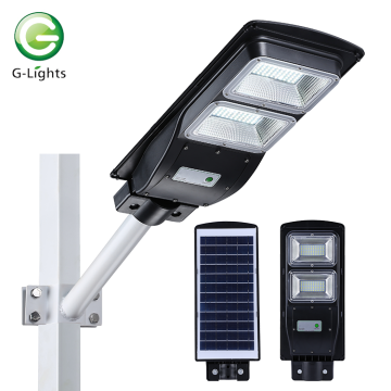 Luz de rua solar all-in-one IP65 20W-60W integrada