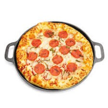14 pulgadas de hierro fundido de pan de cocina pan de pizza