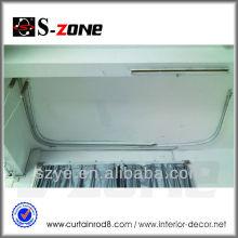 Euro estándar de salida de gran angular curvado cortinas motorizadas con personalizar el diseño del proyecto