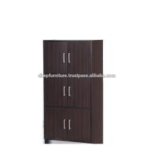 Gabinete de archivo de madera con puerta, estantería de libro, armario