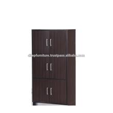 Cabinet à bois avec porte, étagère à livres, casier