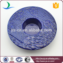 Decoración de diseño moderno redondo titular de la vela de cerámica