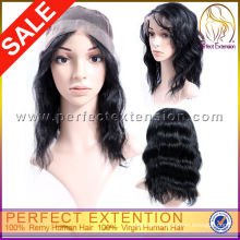 8 Inch Celebrity Virgin Silk Top Full Lace Wigs Transparent Lace