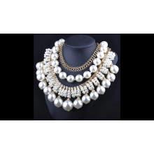 2017 Zinc Alloy jewellery Rhinestone fashion pearl necklace / bead necklace