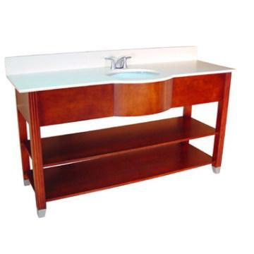 Meuble-lavabo de salle de bains en bois d'hôtel (B-53)