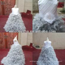 З-472 очаровательный бисером топ с перьями юбка платье цветочница платье