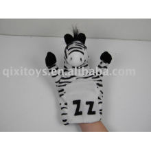 marioneta de peluche animal de cebra