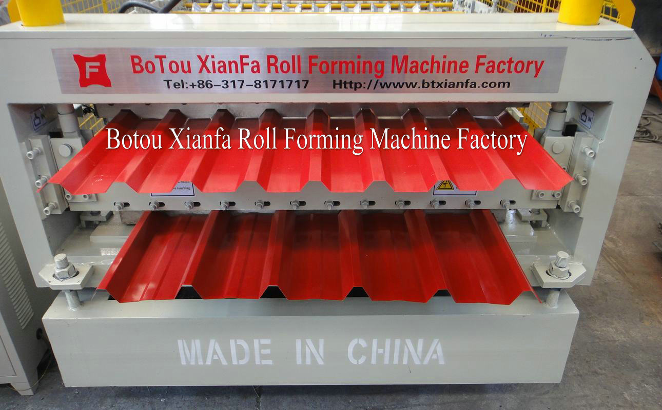 double layer metal roofing machine