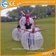 Newly style interesting sport soccer bubble inflatable human bowling ball