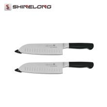 Acero inoxidable U391 que cocina 7 '' cuchillo japonés forjado del cocinero de la cocina de borde de Granton