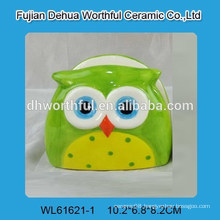 Popular ceramic napkin holder with owl design