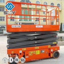 Plataforma de elevación móvil hidráulica de 4 ruedas, mesa elevadora