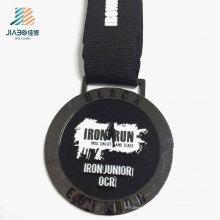 Лучшие Продукты Продают Цинкового Сплава Черной Эмалью Марафон Медаль Металла