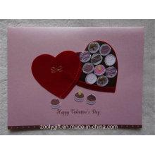2D 3D Handmade Design Glitter cartão e envolver para o Dia dos Namorados