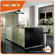 En tiempo de entrega de fábrica directamente muebles de cocina prefabricados para el mercado de América del Norte