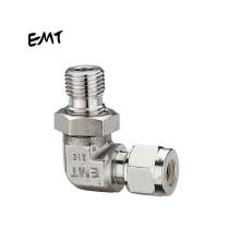 EMT  EGMUE-OG stainless steel adjustable tube fittings 90 degree double ferrule male elbow connector