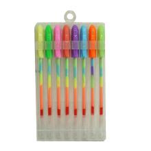 8 PCS Rainbow Glitter Gel Caneta De Tinta Set