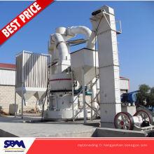 Usine célèbre de production de poudre de gypse de marque de SBM, machine de meulage de poudre de graphite