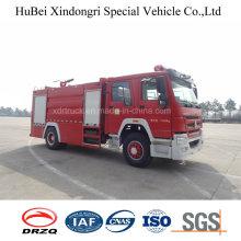 10ton Sinotruk HOWO Tipo de tanque de água Caminhão de combate a incêndio Euro 4